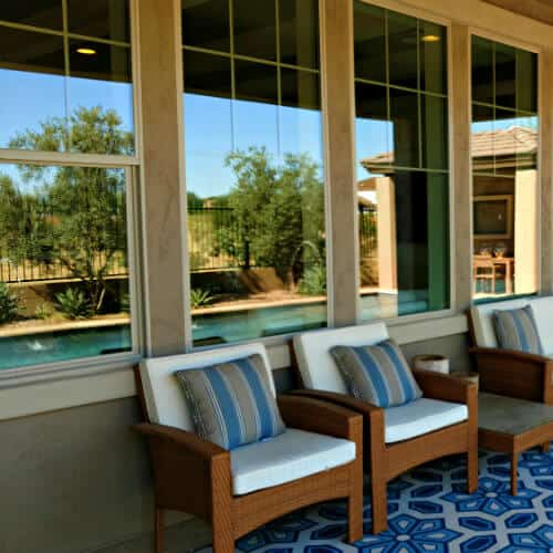 Beautiful, newly repaired residential home windows on a nice house in Chandler AZ. Recently repaired by Glass King