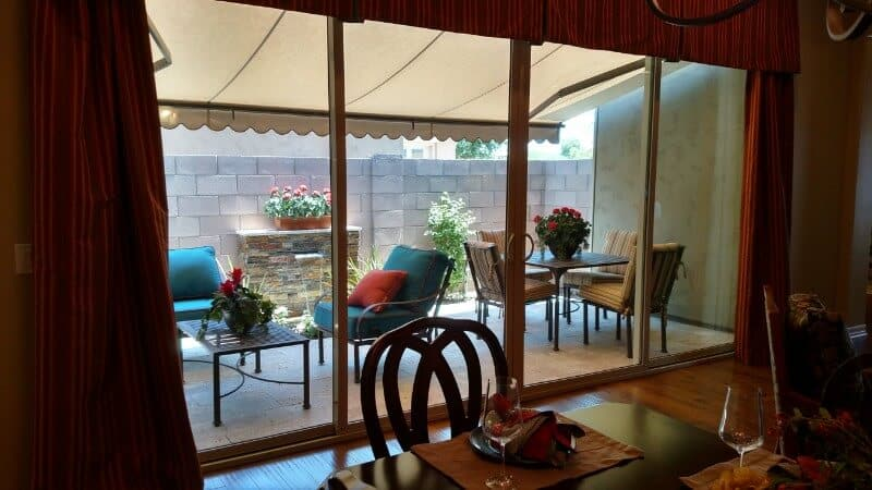 Home Glass Installation Done By King View From The Kitchen Out To Patio Shot Interior
