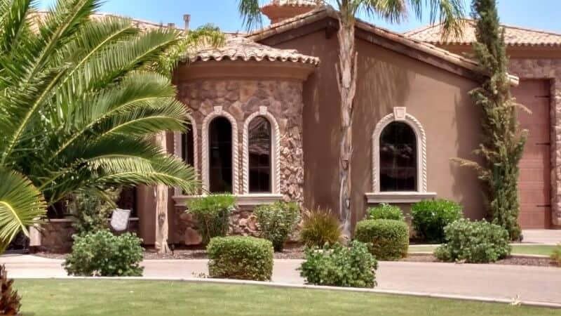 beautiful arizona style home boasting recently repair custom glasswork by glass king