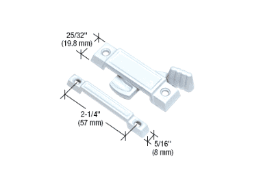 "Black Window Sash Lock with 2-1//4/"" Screw Holes for Krestmark Single Hung Windows"
