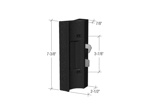 Black Plastic Hook Style Surface Mount Handle 3 7 8