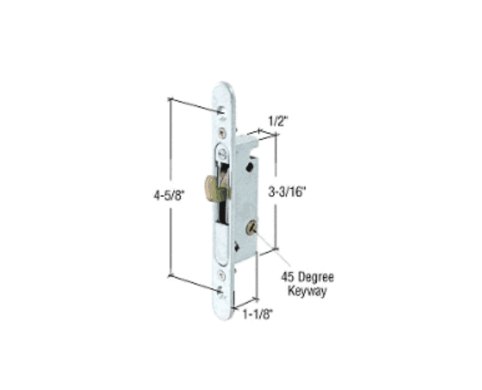 1 2 Quot Wide Round End Face Plate Mortise Lock With 45 Degree