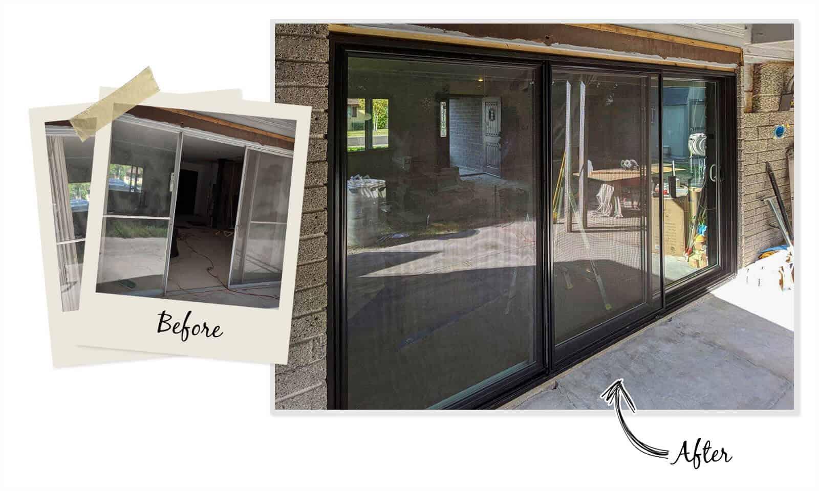triple slide patio door